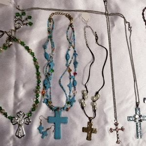 10pc Cross Jewelry Lot